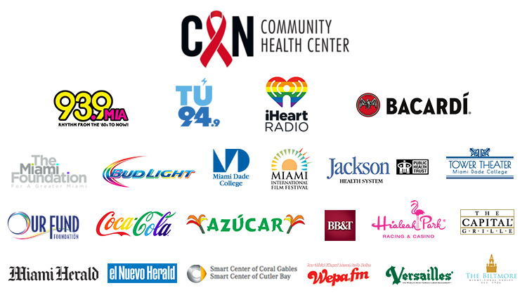 2018 Gay8 Sponsors - CAN Community Health Center, 93.9 MIA, Tu 94.9, iHeart Radio, Bacardi, The Miami Foundation, Bud Light, Miami Dade College, Miami International Film Festival, Jackson Health Systems, Tower Theater, Our Fund Foundation, Coca-Cola, Azucar Nightclub, BB&T, Hialeah Park Casino, The Capital Grille, Miami Herald, El Nuevo Herald, Smart Center of Coral Gables and Smart Center of Cutler Bay, Wepa.fm, Versailles Restaurant, The Biltmore Hotel