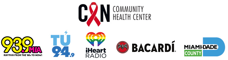Gay8 Presenting Sponsors - Community Health Center, 93.9 MIA, Tu 94.9, iHeart Radio, Bacardi, Miami-Dade County