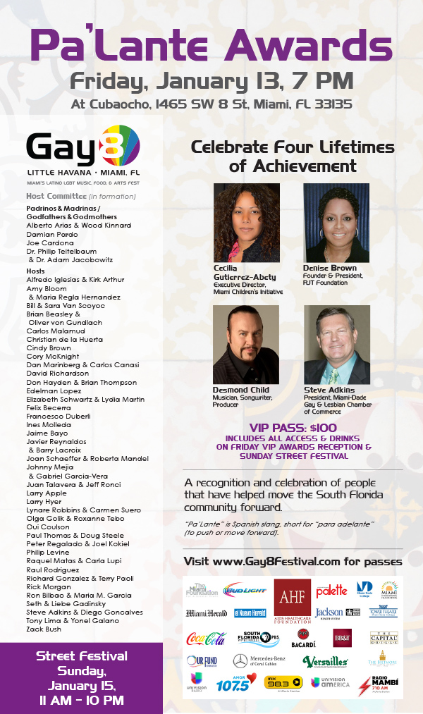2017 Gay8 Pa'Lante Awards