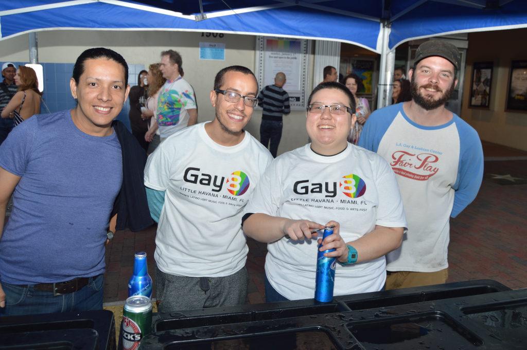 Volunteers at Gay8 Festival