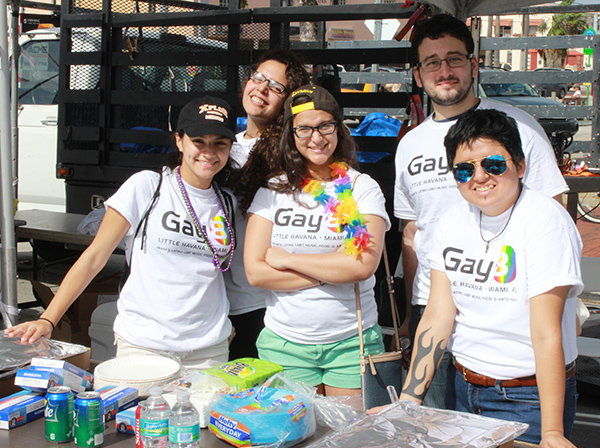 A group of 5 Gay8 Festival volunteers