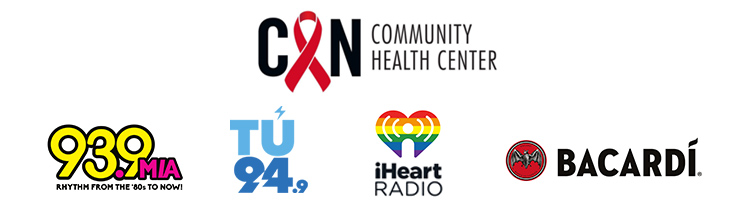 2018 Gay8 Presenting Sponsors - Community Health Center, 93.9 MIA, Tu 94.9, iHeart Radio, Bacardi